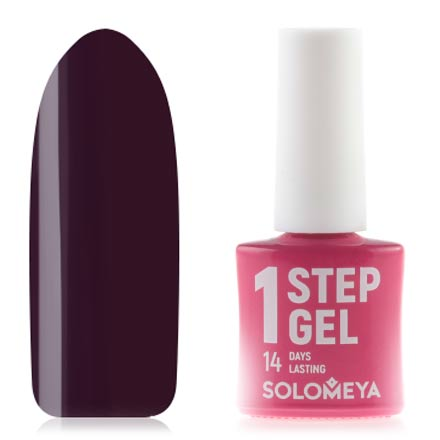 Купить Solomeya, Гель-лак One Step № 22, Plum, Фиолетовый