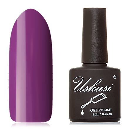 Uskusi, Гель-лак №318Uskusi<br>Гель-лак (8 мл) пурпурный, без перламутра и блесток, плотный.<br><br>Цвет: Фиолетовый<br>Объем мл: 8.00