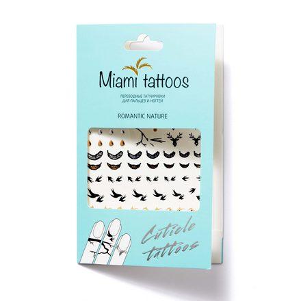 Miami Tattoos, Переводные татуировки Romantic Nature/Cuticle Tattoo