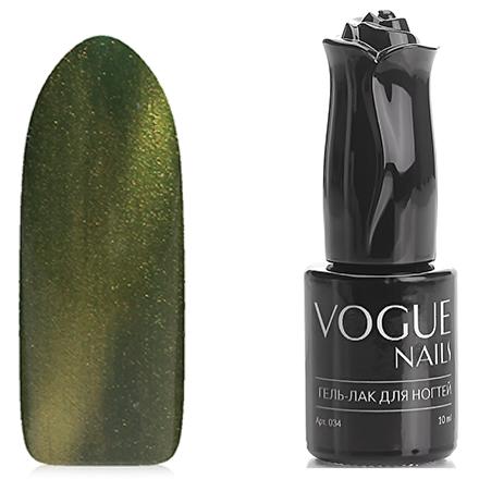 Vogue Nails, Гель-лак Кошачий глаз, Сокровища КлеопатрыVogue Nails<br>Магнитный гель-лак (10 мл) травянисто-зеленый, с золотистым перламутром, полупрозрачный.