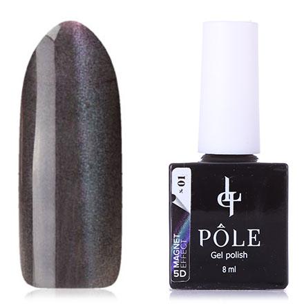 POLE, Гель-лак 5D №1, Фиолетовый и бирюза
