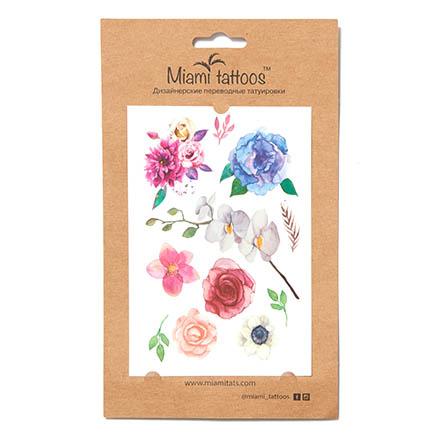 Miami Tattoos, Переводные татуировки Blossom/Watercolor