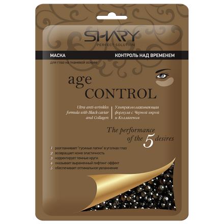 Купить Shary, Тканевая маска для кожи вокруг глаз Контроль над временем, Черная икра и коллаген , 7 г