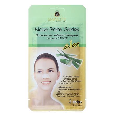 Skinlite, Полоски для очищения пор носа Алоэ, 3 шт полоски для носа skinlite алоэ 3 шт