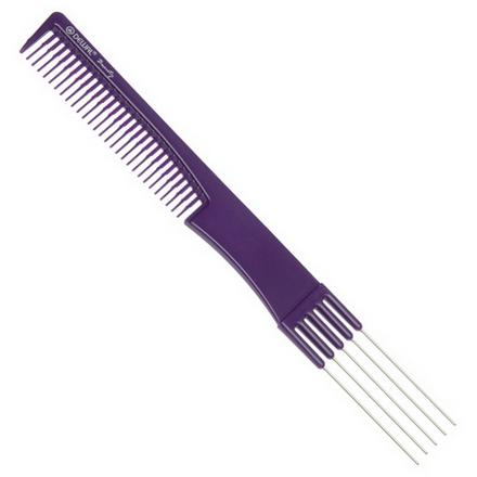 Dewal, Расческа с металлическими зубцами, фиолетовая, 19 см  - Купить