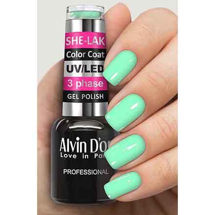 Купить Alvin D'or, Гель-лак №3564, Зеленый