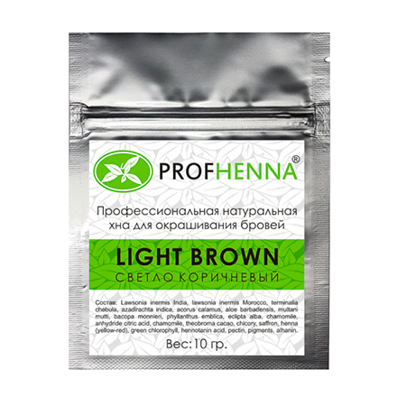 PROFHENNA, Хна для бровей Light brown, саше, 10 г