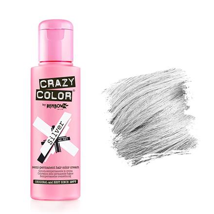 Crazy Color, Краска для волос №27, Silver