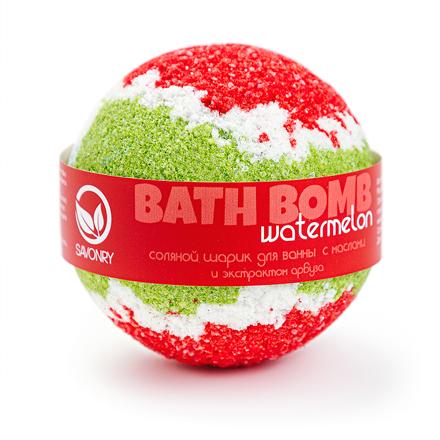 Купить Savonry, Бурлящий шарик для ванны Watermelon, 100 г