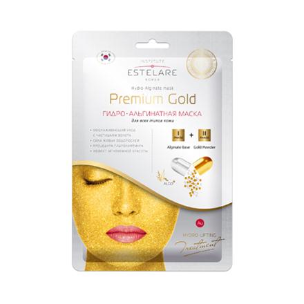 Estelare, Гидроальгинатная маска для лица Premium Gold, 55 г