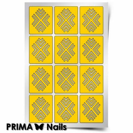 Prima Nails, Трафарет для дизайна ногтей, Уголки