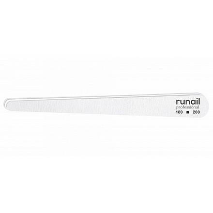 Купить RuNail, Пилка для искусственных ногтей, белая, капля, 180/200