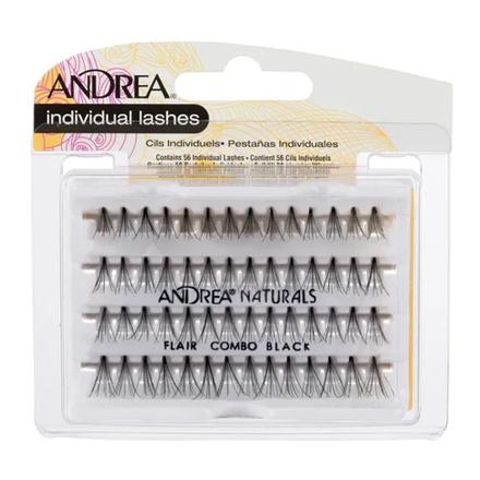 Купить Andrea, Пучки ресниц Perma, безузелковые, комбинированные, черные
