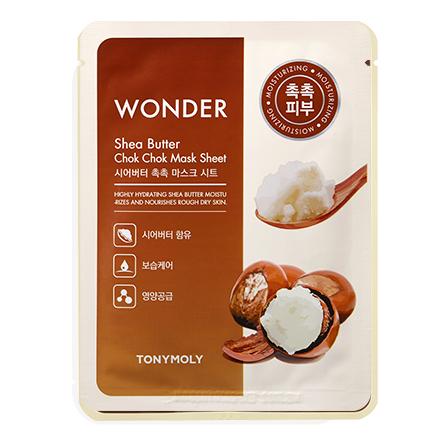 Купить Tony Moly, Маска для лица Wonder Shea Butter Chok Chok, 20 г