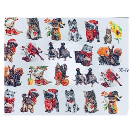 Купить Anna Tkacheva, 3D-слайдер №796 «Новый год. Животные»