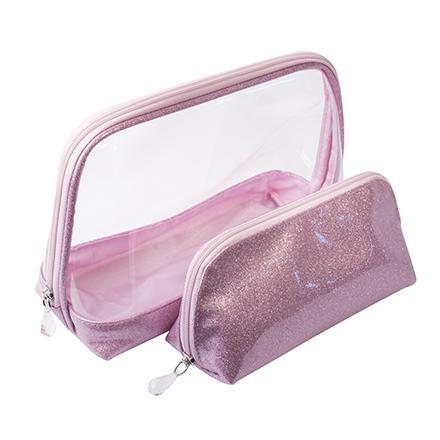 Купить Dewal, Набор косметичек «Северное сияние», розовый