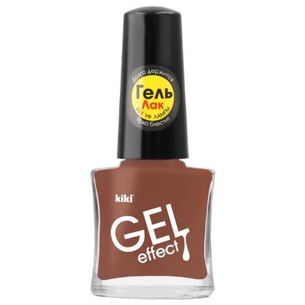 Купить Kiki, Лак для ногтей Gel Effect №017, Коричневый