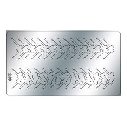 Купить Freedecor, Металлизированные наклейки №213, серебро