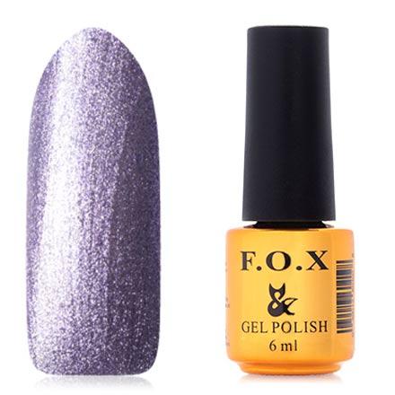 FOX, Гель-лак Platinum №008F.O.X<br>Гель-лак (6 мл) ярко-сиреневый, с большим количеством перламутра, плотный.