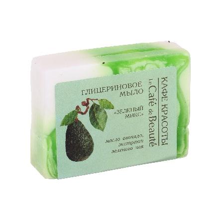 Купить Кафе Красоты, Глицериновое мыло «Зеленый микс», 100 г, Кафе красоты
