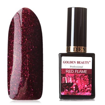 Bluesky, Гель-лак Golden Beauty Red Flame №06Bluesky Шеллак<br>Гель-лак (14 мл) цвета спелой вишни, с розовыми и золотыми микроблестками, полупрозрачный.<br><br>Цвет: Красный<br>Объем мл: 14.00
