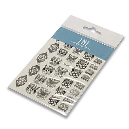TNL, Слайдер-трафареты SJ-007Трафареты для маникюра<br>Трафарет для создания необычного дизайна. Размер: 9x13 см.