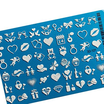 AnnaTkacheva,3D-слайдер№121,белый «Сердце. Любовь» фото