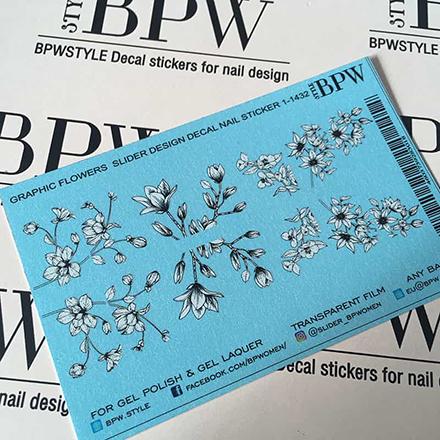 Купить BPW.Style, Слайдер-дизайн «Цветы графика» №3d-1-1432w