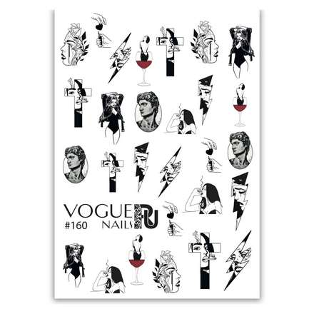 Купить Vogue Nails, Слайдер-дизайн №160