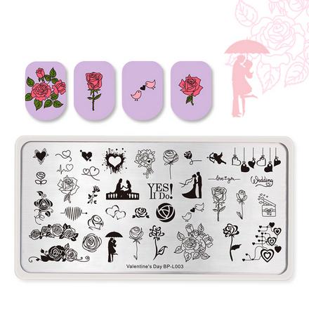 Купить Born Pretty, Пластина для стемпинга Valentine's day №003