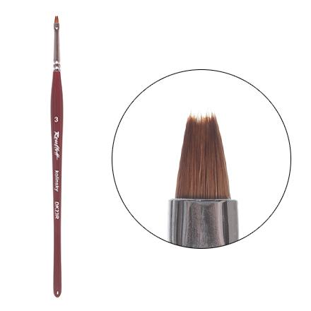 Roubloff, Кисть для дизайна, плоская, из волоса колонка №3 (DК23R) roubloff кисть для дизайна плоская из волоса колонка 3 dк23r
