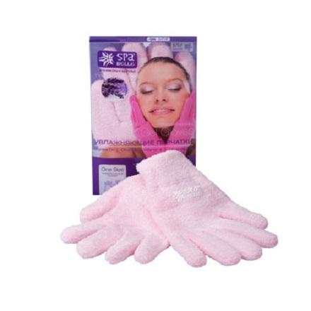 Spa Belle, Увлажняющие гелевые перчатки, цвет розовый с лавандой