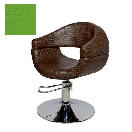 Купить Мэдисон, Кресло парикмахерское «МД-108» гидравлическое, хромированное, салатовое