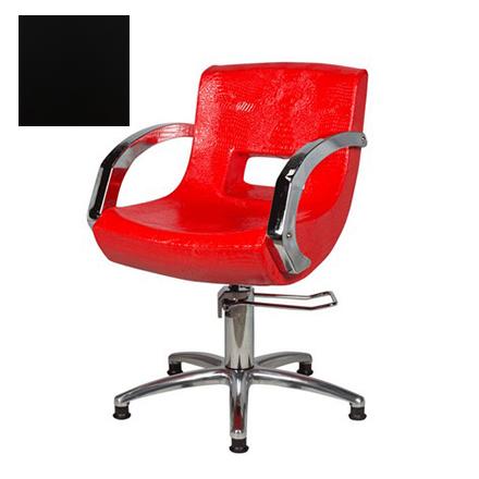 Купить Мэдисон, Кресло парикмахерское «МД-2203» гидравлическое, хромированное, черное