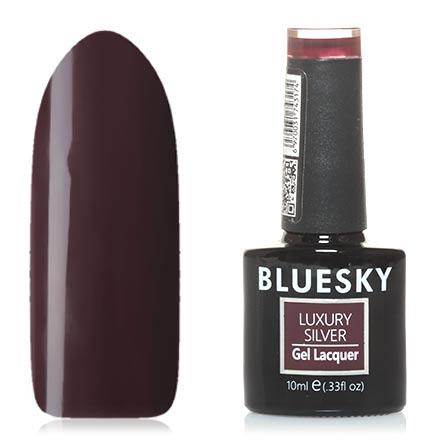 Bluesky, Гель-лак Luxury Silver №176Bluesky Шеллак<br>Гель-лак (10 мл) каштановый,  без перламутра и блесток, плотный.