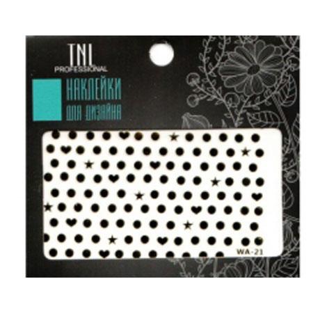 TNL, Наклейки Premium WA-21Наклейки для дизайна<br>Декор для создания оригинального маникюра. Размер: 8,5x5,5 см.<br>