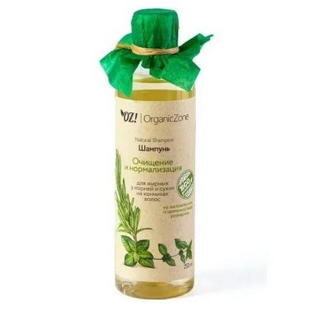 Купить OrganicZone, Шампунь «Очищение и нормализация», 250 мл