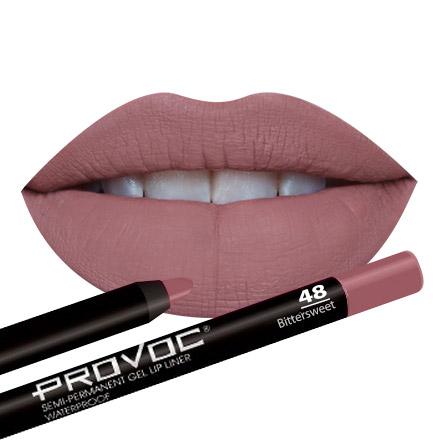 Provoc, Гелевая подводка-карандаш для губ №48, Bittersweet, цвет персиковый