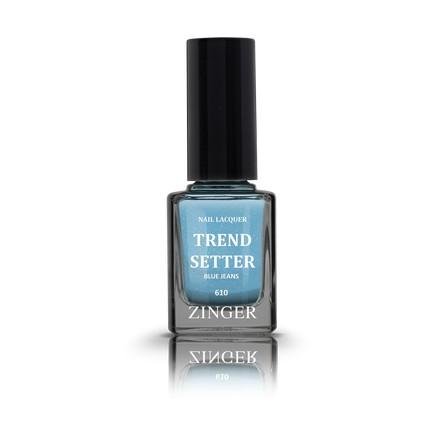 Zinger, Лак для ногтей Trendsetter, цвет Blue jeans