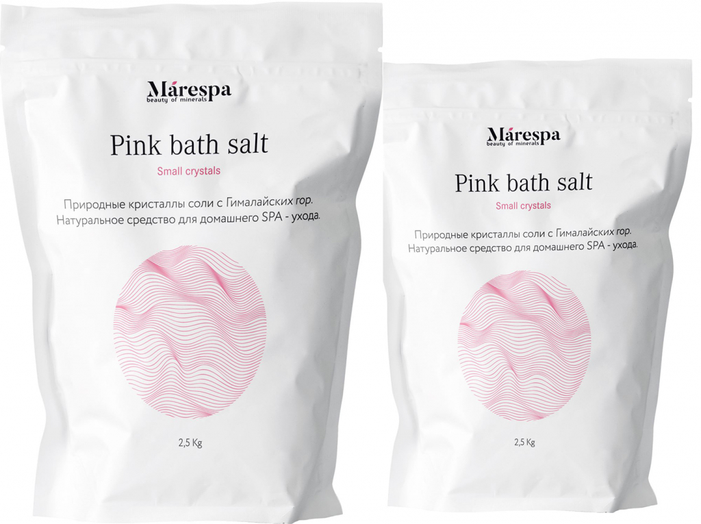 Розовая соль для ванн