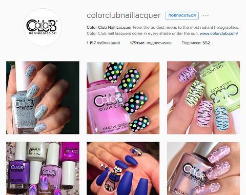 Color Club в Instagram