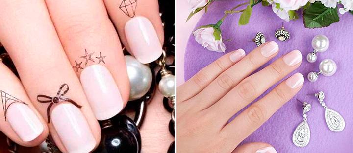 Дизайн «Беверли- Хиллз» на коротких ногтях