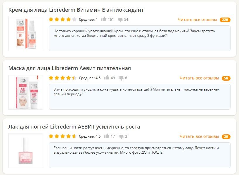 Отзывы о LIBREDERM