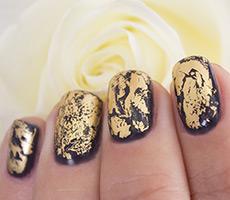 Фото дизайна ногтей с фольгой фото