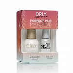 ORLY, Набор Perfect Pair Lacquer/Gel Duo Kit, 1 White Tips