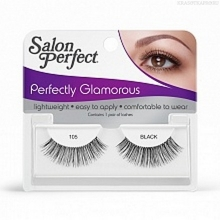 Фото Salon Perfect, Strip lash black, Ресницы черные № 105