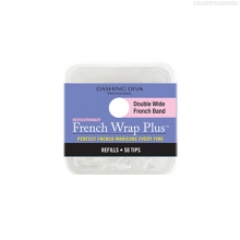 Фото Dashing Diva, French Wrap Plus - White, Refill Size #6 (широкие)