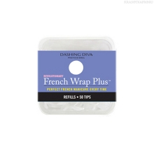 Фото Dashing Diva, French Wrap Plus - White, Refill Size #0 (узкие)