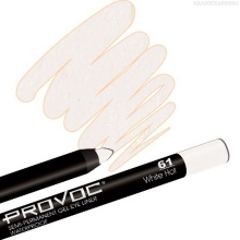 Фото PROVOC, GEL EYE LINER 61 White Hot, ЦВЕТ Белый