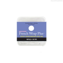 Фото Dashing Diva, French Wrap Plus - White, Refill Size #9 (узкие)